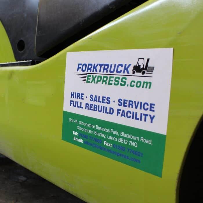 Forktruck Express sticker